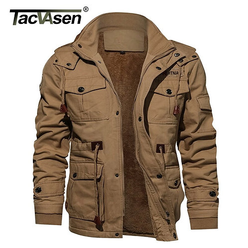 Military Thicken Mens Winter Casual Hooded Jacket Coat Jackets Windbreaker