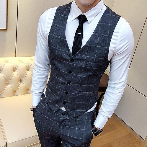 Men's Suit Vests Business Dresses Tops Men Slim Fit