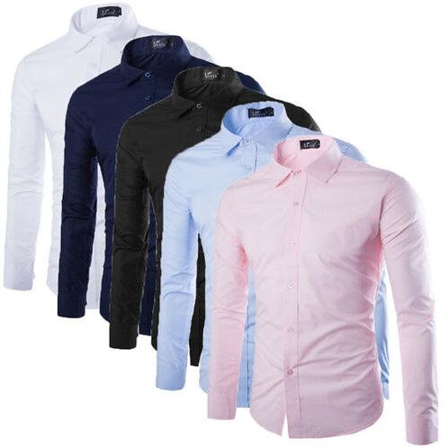 Formal Shirts Long Sleeve Business Work Shirts Size M L XL XXL XXXL