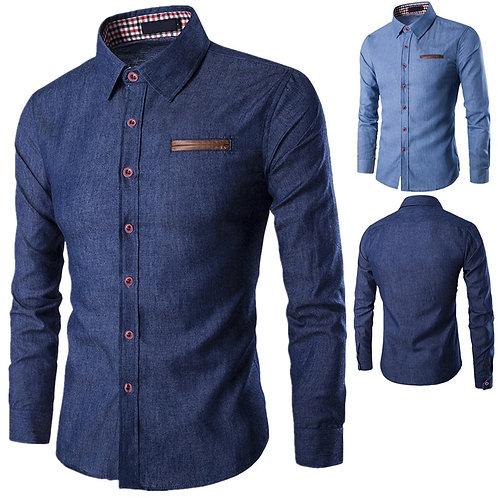 Casual Business Men Dress Shirts Long Sleeve Cotton Shirts
