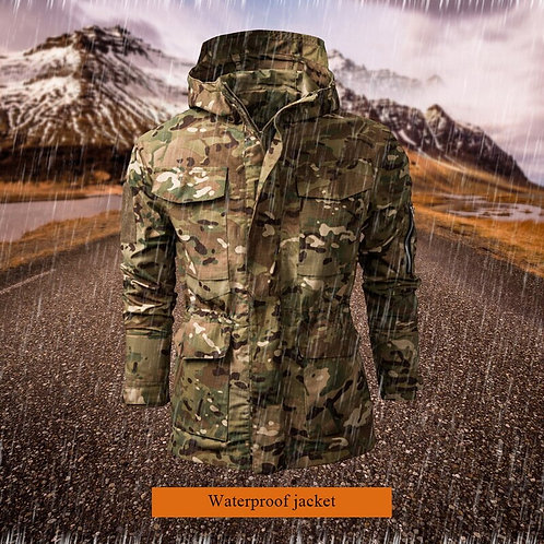 Men Lurker Shark Skin Waterproof Coat Camouflage Hooded Brand Army Camo Clothing