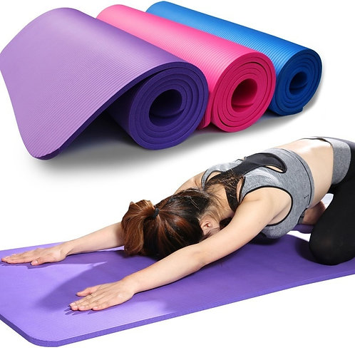 Yoga Mat Anti-Skid Sports Fitness Mat 3mm-6mm Thick for Exercise, Yoga, Pilates