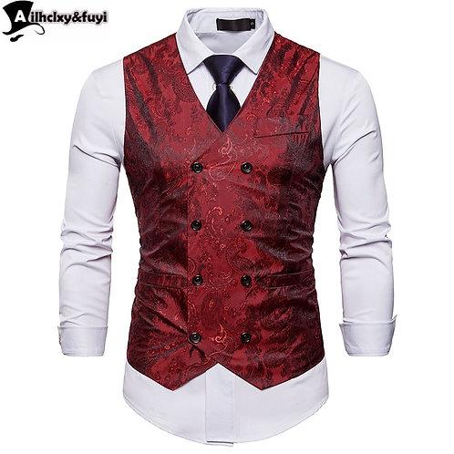 Men Blazer Vest Fashion Casual Suit Vest Work Men Outwear Coat