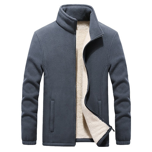 2020 Winter New Stand Collar Men's Polar Fleece Jackets Thicken Warm Coat