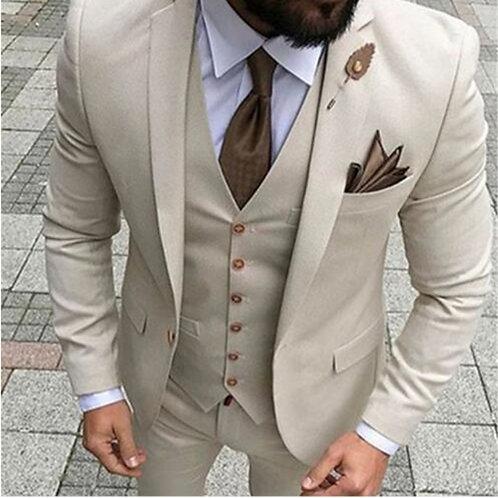 Men Suits Tuxedo Slim Fit 3 Piece Suits for Men Custom Blazer Terno Masuclino