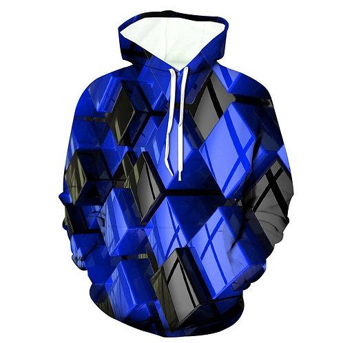 Men's Hoodies Men's 3d Jacket Long Sleeve Hooded