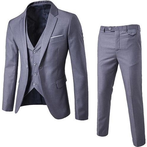 3 Pieces Business Blazer +Vest +Pants Suit Sets Men