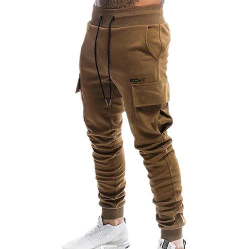 Jogger Sweatpants Male Bodybuilding Fitness Trousers Men's  Multi-Pocket Pants