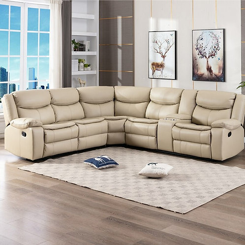 6 Seater Reclining Sectional Sofa Set Office Home Furniture Reclining Sofa Chair