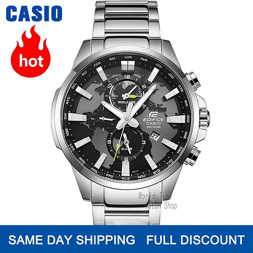 Casio Edifice Luxury Set 100Waterproof Sport Men Military Quartz Wrist Watch