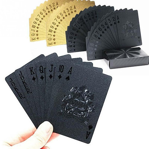24K Gold Playing Poker Game Deck Magic Waterproof Cards