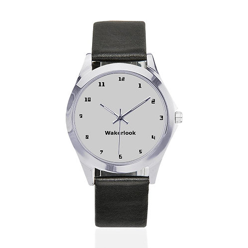 Round Metal Wakerlook Watch