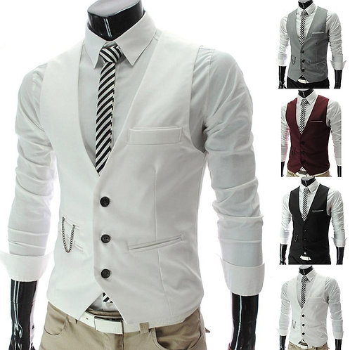 2020 New Arrival Casual Sleeveless Formal Business Jacket Dress Vests for Men