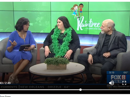 Meghan Goldbeck-Chambers & artist James Michalopoulos appear on Fox 8 Live to promote ...