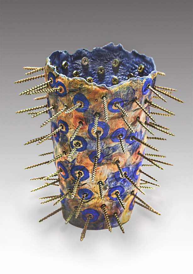 brass screw vase