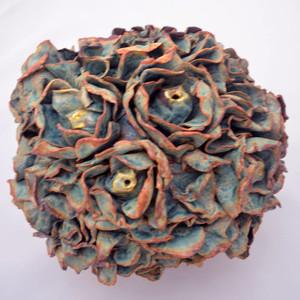 Turquoise Flowers Vase