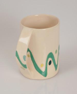 green line mug