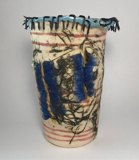construction staples vase