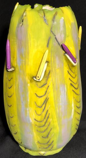 yellow dark purple stripes