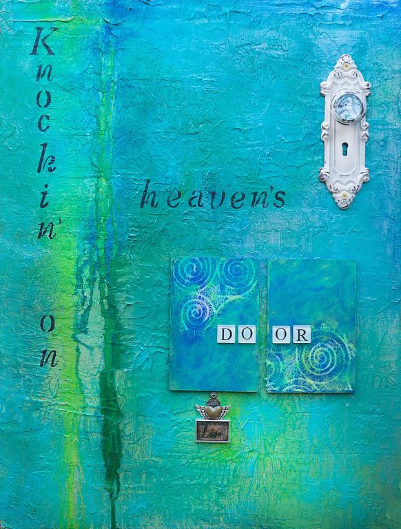 """Knockin' on Heaven's Door W 16""""x D 1.5""""x H 12"""""""