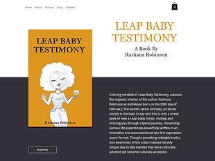 Leap Baby Testimony Book