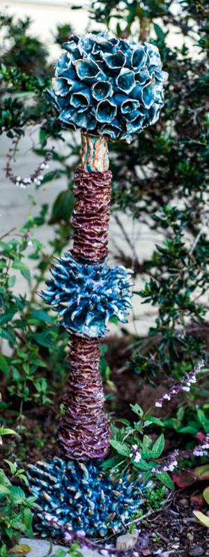 Blue spike totem