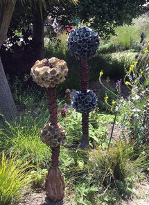 Yellow & Blue Flower Totems