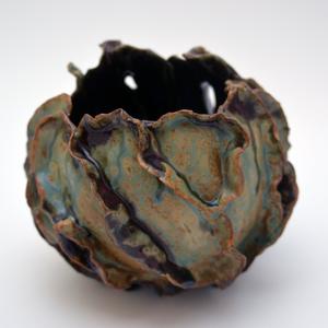 Turquoise&Purple Organic Vase