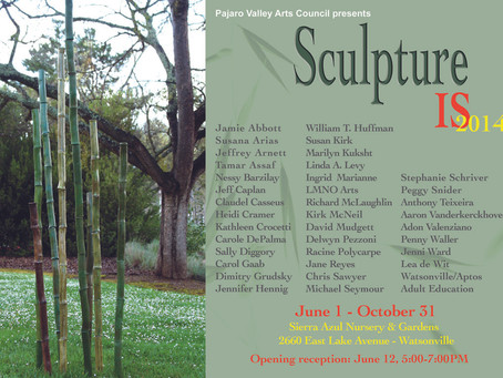 Sculpture Is 2014 exhibit in Sierra Azul garden