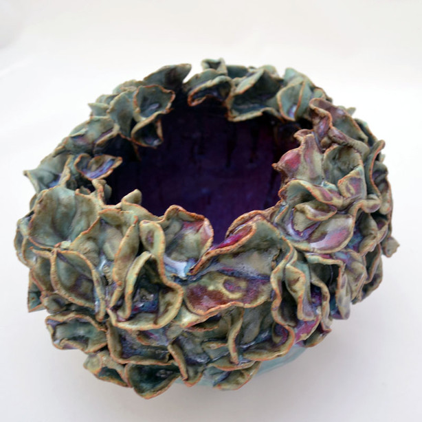 Turquoise&Purple Flower Vase