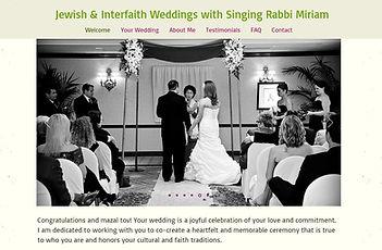 Jewish & interfaith Weddings by Rabbi Miriam