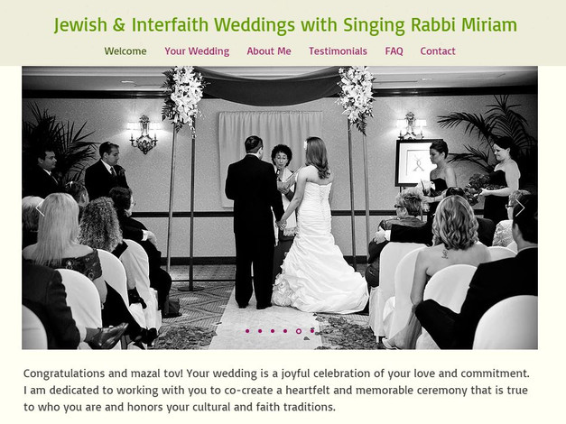 Jewish & interfaith Weddings by Rabbi Miriam