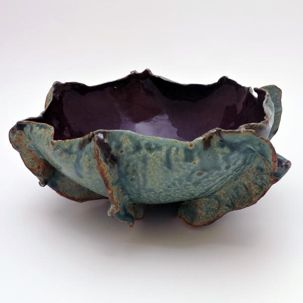 Turquoise&Purple Organic Bowl