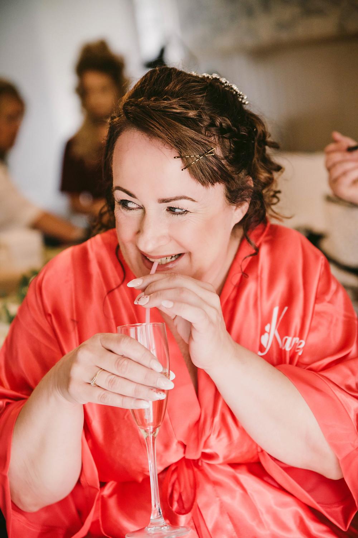 Karen Ashton on her wedding day