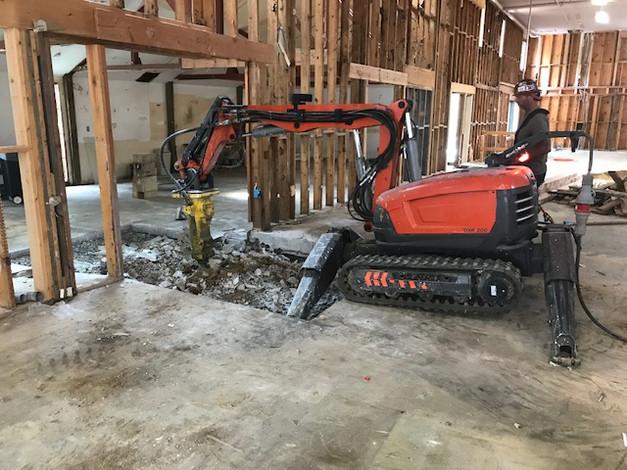 Interior Concrete Demolition