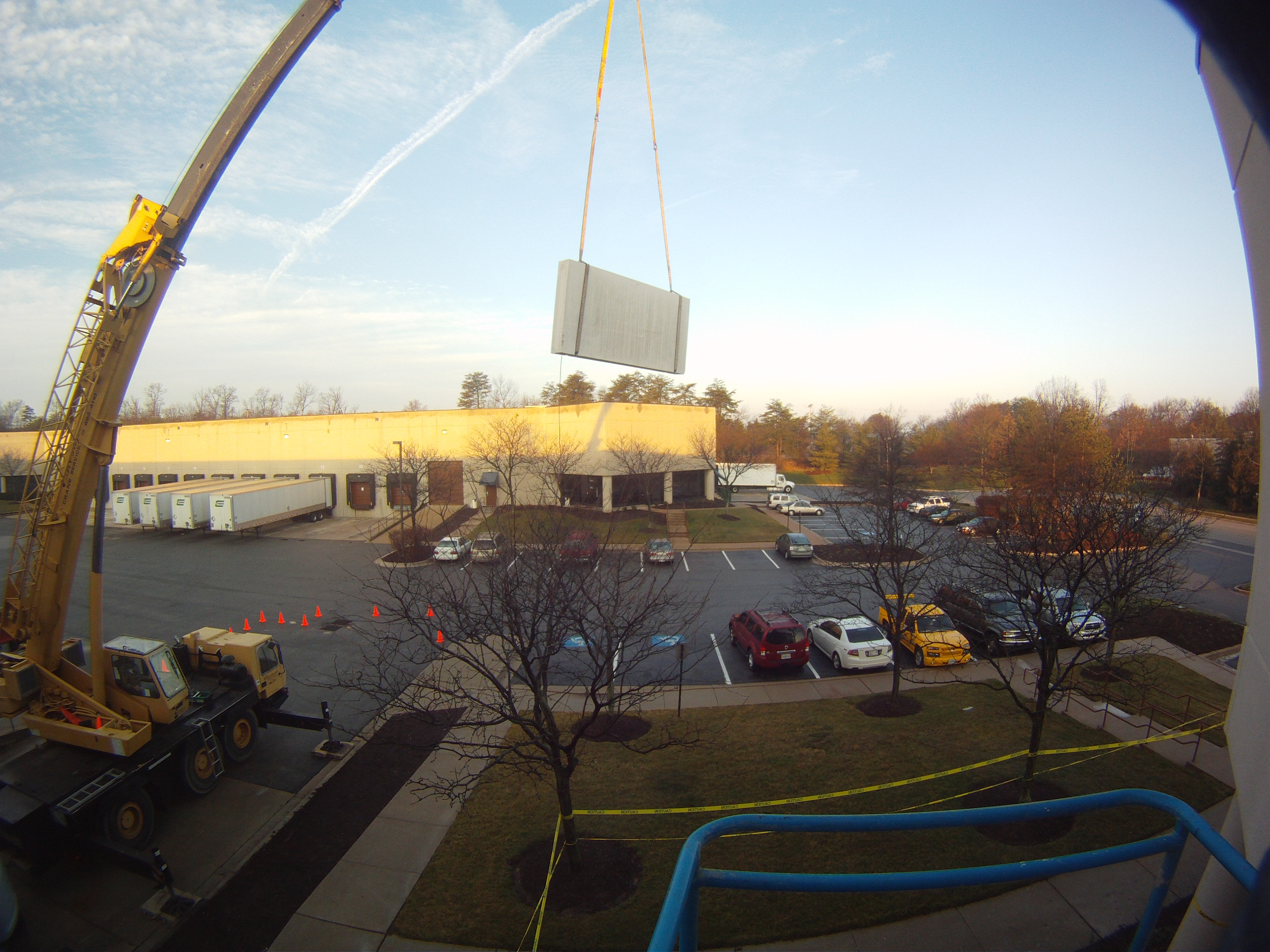 Concrete Panel Lifted Out By Crane