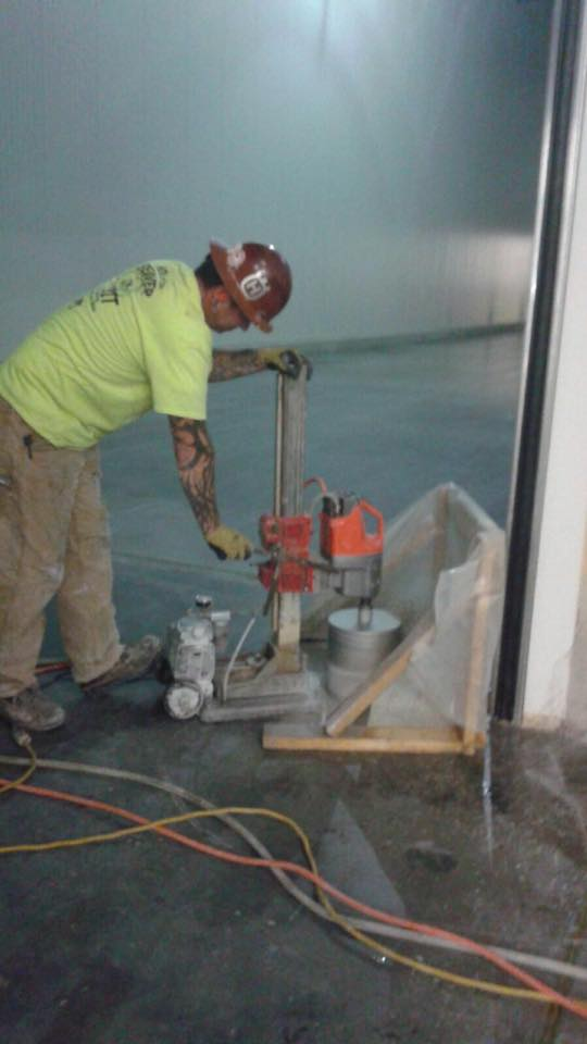 Core Drilling Into A Slab