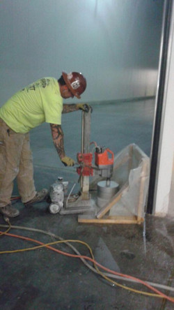Core Drilling Into A Slab