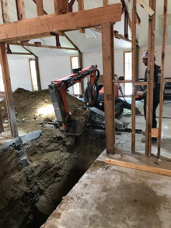 Interior Excavation For Column Footers