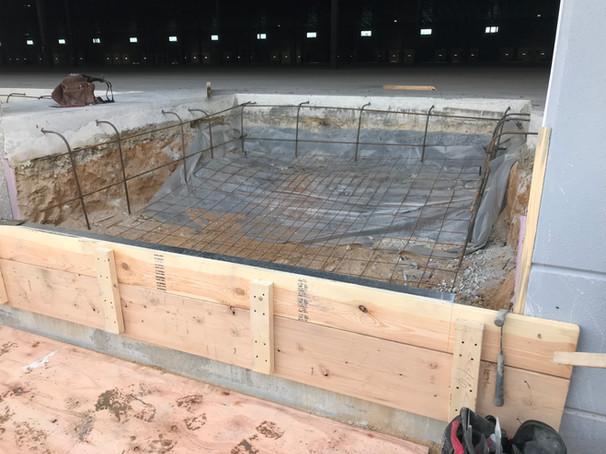 Dock Pit Slab Prep