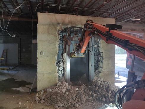 Bank Vault Demolition