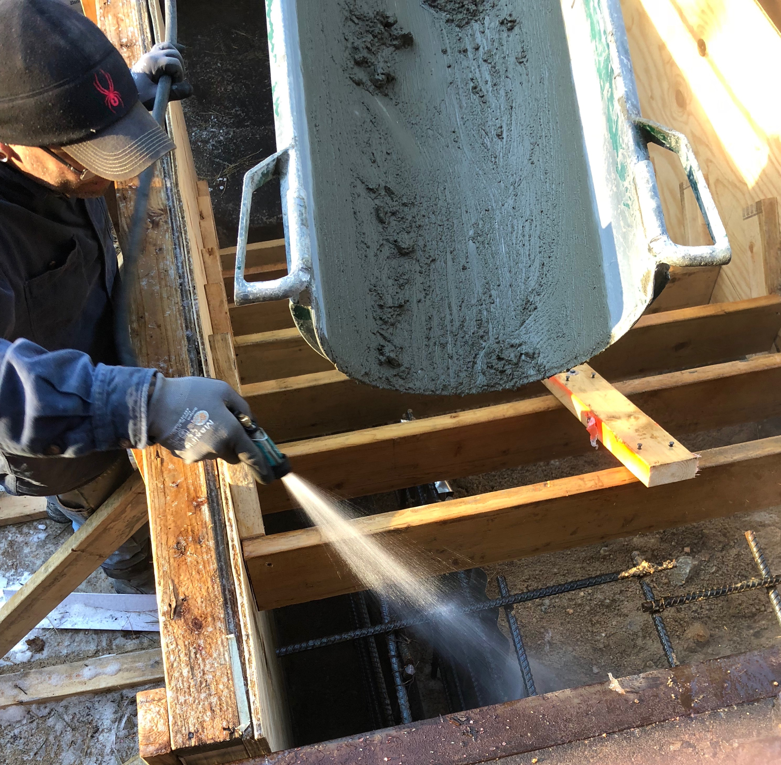 Pouring Concrete Stairs