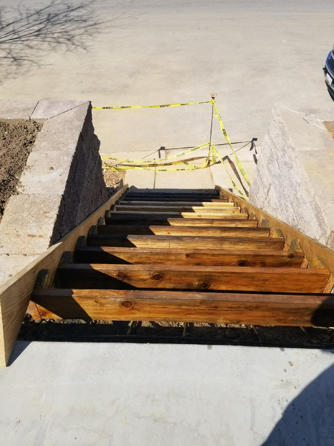 Forming For Concrete Stairs