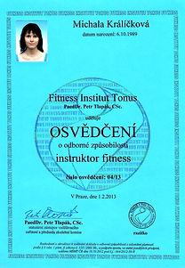 Fitness Instruktor osvědčení, Michala Havránková