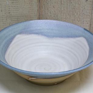 Stoneware White & Blue