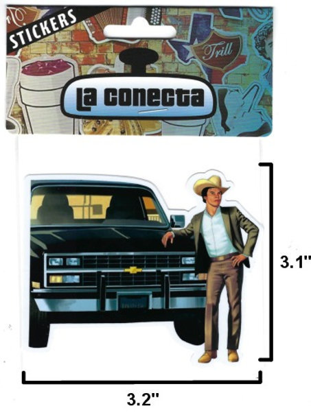 """Chalino Sánchez""  Pick Up Truck Sticker"