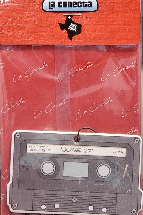 """""""June 27th Cassette Tape"""" Air Freshener"""