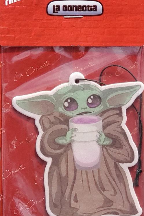 """Baby Yoda Sippin'"" Air Freshener"