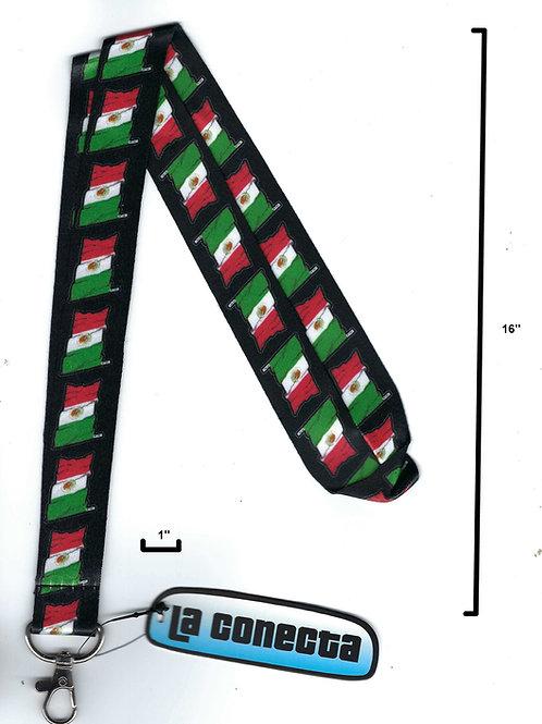 """Mexico Flag"" Lanyard Necklace"