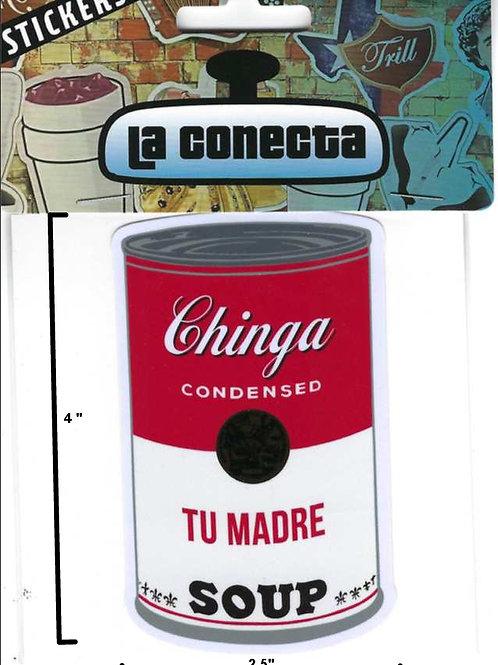 """Tu Madre Soup"" Stickers"